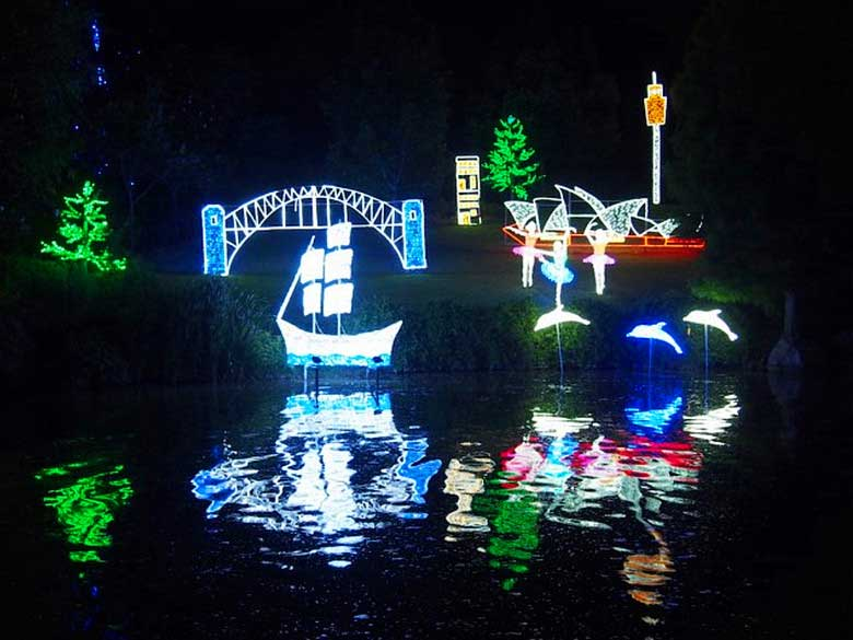 led park light show Australia
